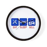 Eat. Sleep. Sell. Wall Clock
