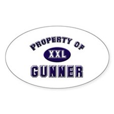 Property of gunner Oval Decal