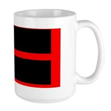 Red Border Thin Red Line Mug
