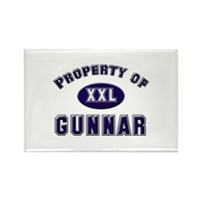Property of gunnar Rectangle Magnet
