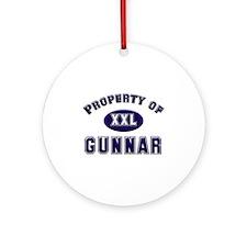 Property of gunnar Ornament (Round)