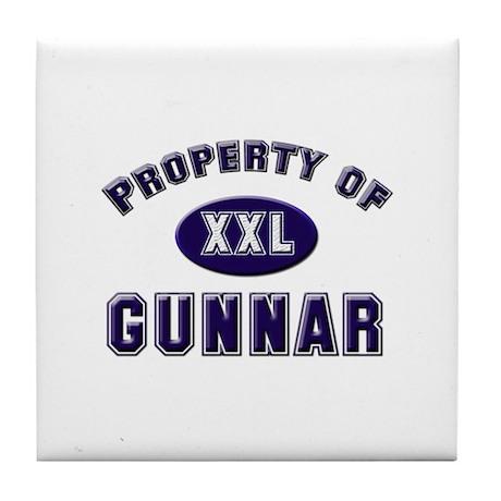 Property of gunnar Tile Coaster