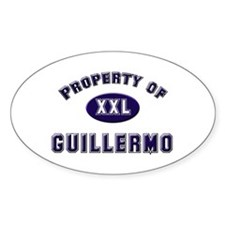 Property of guillermo Oval Decal