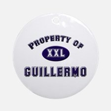 Property of guillermo Ornament (Round)