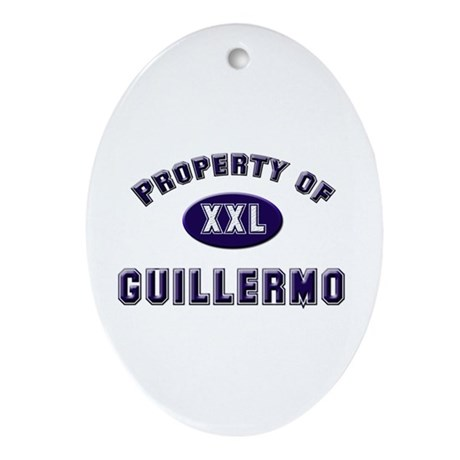 Property of guillermo Oval Ornament