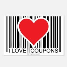 I-Love-Coupons Postcards (Package of 8)
