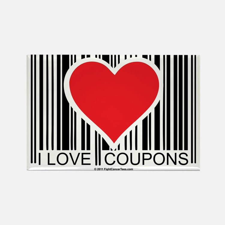I-Love-Coupons Rectangle Magnet