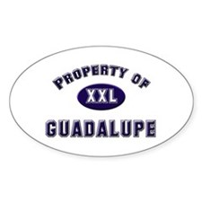 Property of guadalupe Oval Decal