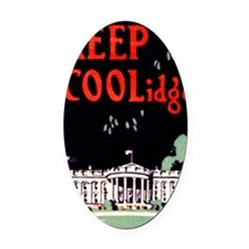 Calvin Coolidge Campaign: Keep Coo Oval Car Magnet