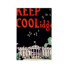 Calvin Coolidge Campaign: Keep Co Rectangle Magnet