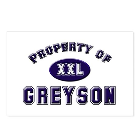 Property of greyson Postcards (Package of 8)