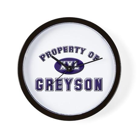 Property of greyson Wall Clock