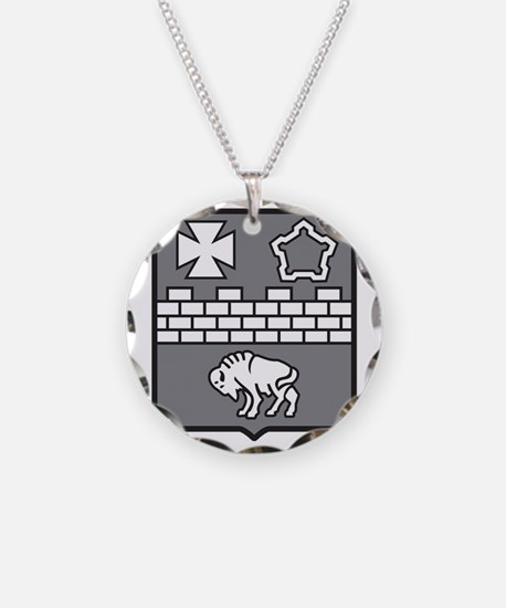 17th Crest Med BW.gif Necklace