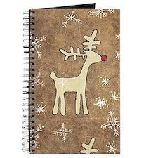 Cute Christmas Reindeer Journal