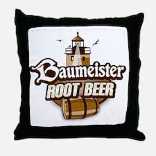 Root Beer logo Throw Pillow