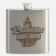 Root Beer logo Flask