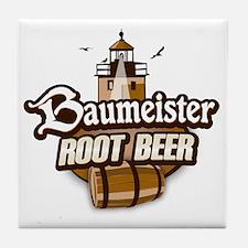Root Beer logo Tile Coaster