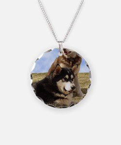 MalamuteGreeting1 Necklace