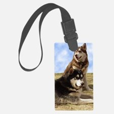 MalamuteGreeting1 Luggage Tag