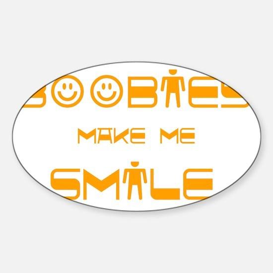 boobies Sticker (Oval)