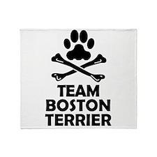 Team Boston Terrier Throw Blanket