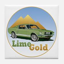 LimeGold-C10trans Tile Coaster