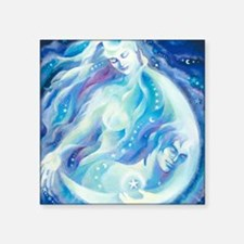 """Selene and Endymion Square Sticker 3"""" x 3"""""""
