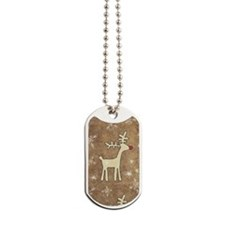 Cute Christmas Reindeer Dog Tags