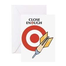 Close_Enough_Arrow_and_Name_2500x250 Greeting Card