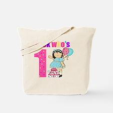 birthday 1 girl Tote Bag