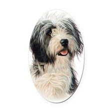 Bearded Collie Oval Car Magnet
