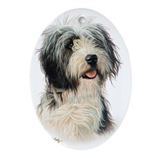 Bearded Collie Oval Ornament