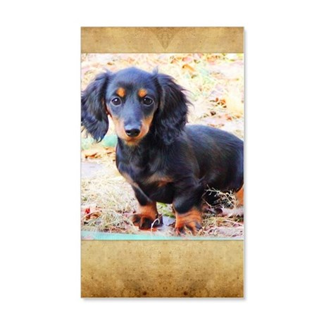 Puppy Love Doxie 20x12 Wall Decal