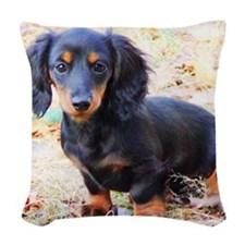 Puppy Love Doxie Woven Throw Pillow