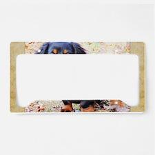 Puppy Love Doxie License Plate Holder