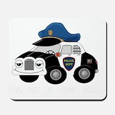 copcar DARK PATROL copy copy Mousepad