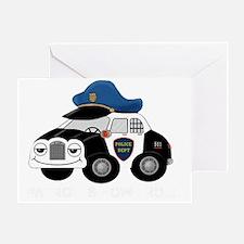 copcar DARK PATROL copy copy Greeting Card