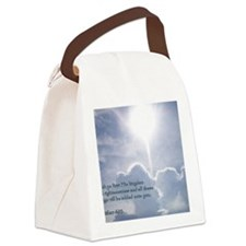 Matthew 6-33 Shining Clouds Canvas Lunch Bag