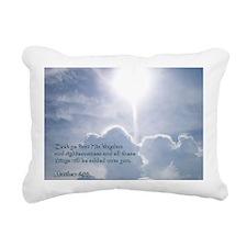 Matthew 6-33 Shining Clo Rectangular Canvas Pillow