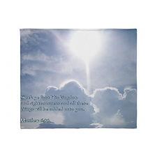 Matthew 6-33 Shining Clouds Throw Blanket
