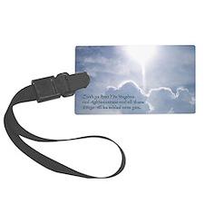 Matthew 6-33 Shining Clouds Luggage Tag