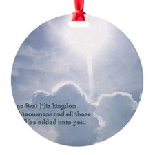 Matthew 6-33 Shining Clouds Ornament