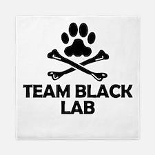 Team Black Lab Queen Duvet