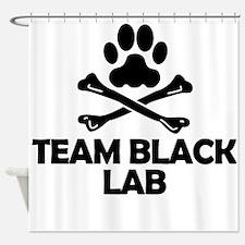 Team Black Lab Shower Curtain