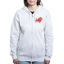 Cute Nebraska Zip Hoodie