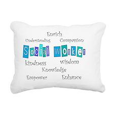 Social Worker BLUE 2011 Rectangular Canvas Pillow