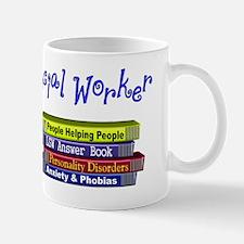 Social Worker Stack of Books Design Mug