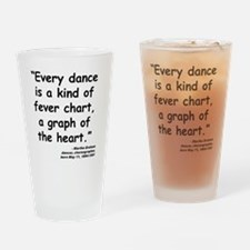 Graham Dance Quote Drinking Glass