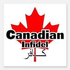 "canadianinfidel Square Car Magnet 3"" x 3"""