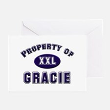 Property of gracie Greeting Cards (Pk of 10)